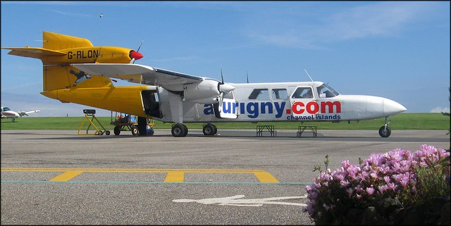 Trislander at Alderney Airport