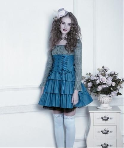 blue classic lolita dress