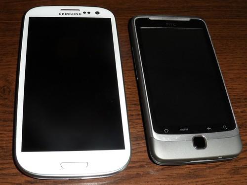 Comparaison S3 - HTC Desire Z