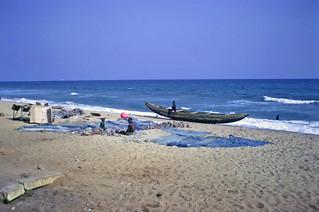 Fisherman & son on the beach - Lomé
