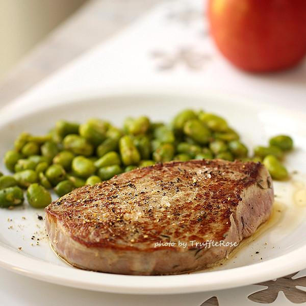一肉兩蔬牛排餐-120726