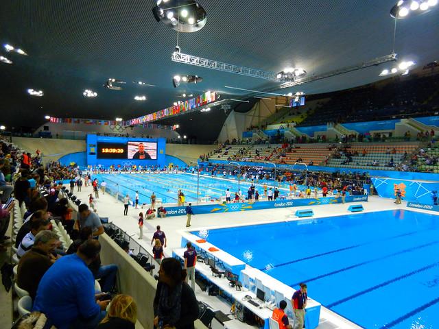 Swimming aquatics centre olympic park stratford london england uk flickr photo sharing for Stratford swimming pool timetable