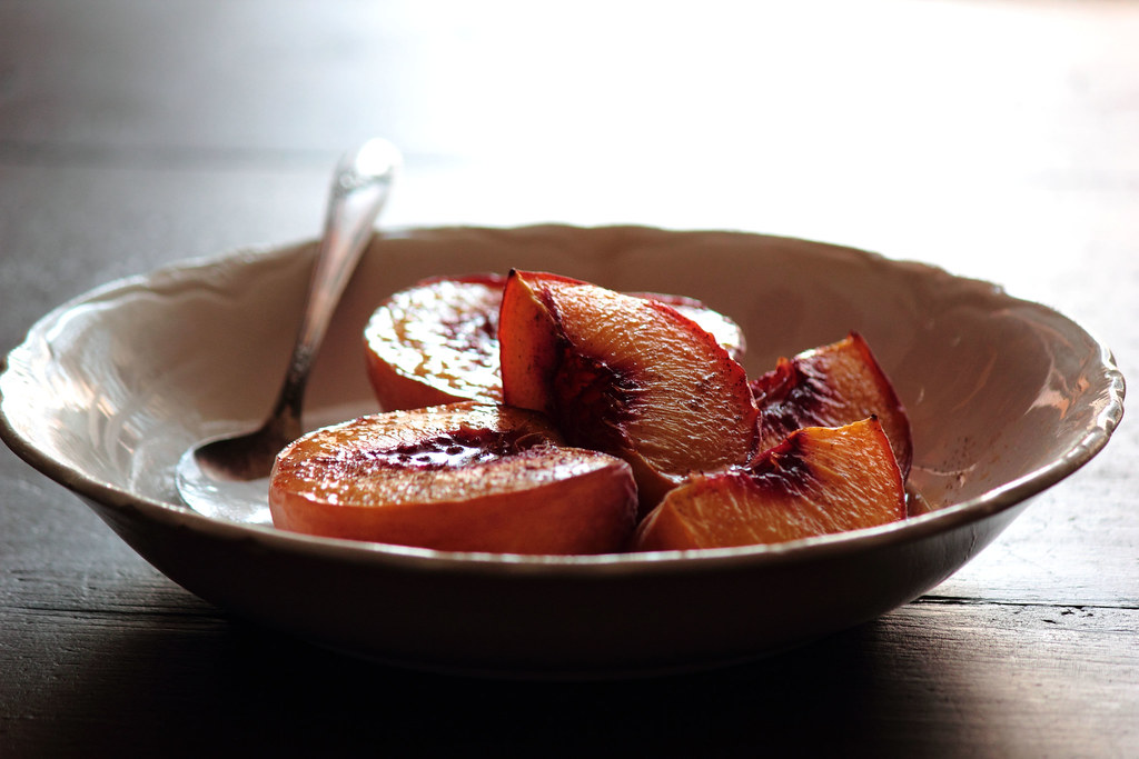 Maple Roasted Peaches
