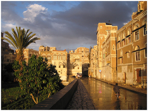 sunset yemen sanaa