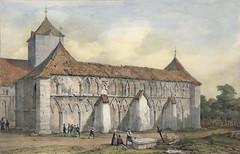 Ruinene av Vestfronten ved Trondhjems Domkirke (1838)