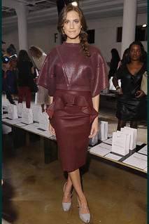 Allison Williams Oxblood Trend Celebrity Style Women's Fashion