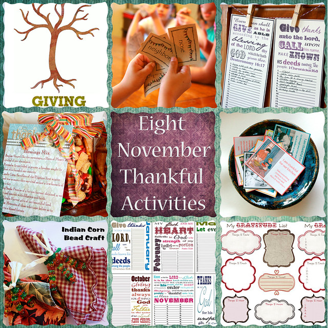 November Thankful Activities