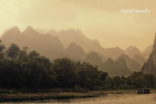 china sunset sun mountain sol landscape atardecer paisaje montañas