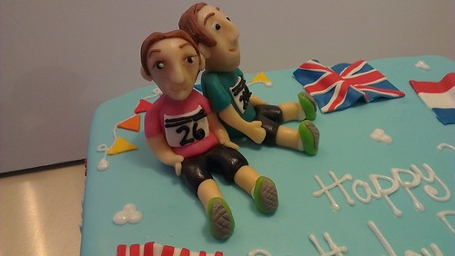 Marathon runners cake by CAKE Amsterdam - Cakes by ZOBOT