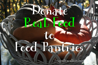 Donate Real Food to Food Pantries