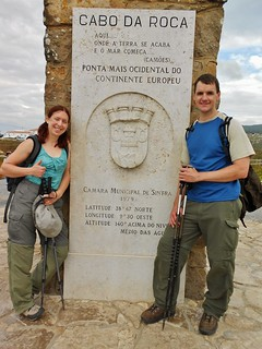 Clare and Dennis at Cabo Da Roca