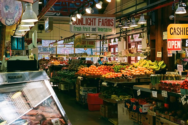 Granville Island Market by CC user photographybycolby on Flickr