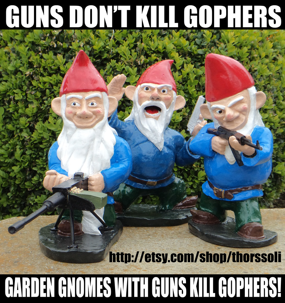 GUNS DON'T KILL GOPHERS