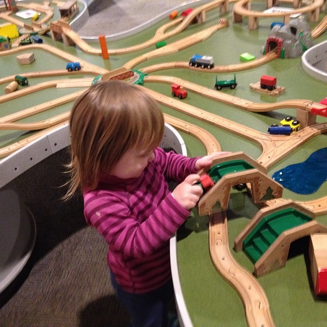 Playing with trains at the Strong #latergram