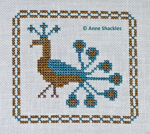 The Stitching Parlor-Proud Peacock freebie