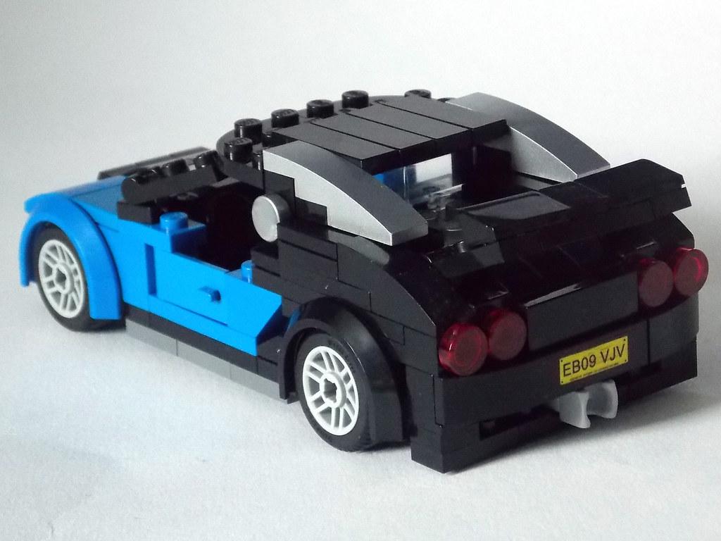 lego minifigure scale car 7 wide bugatti veyron 4 flickr. Black Bedroom Furniture Sets. Home Design Ideas