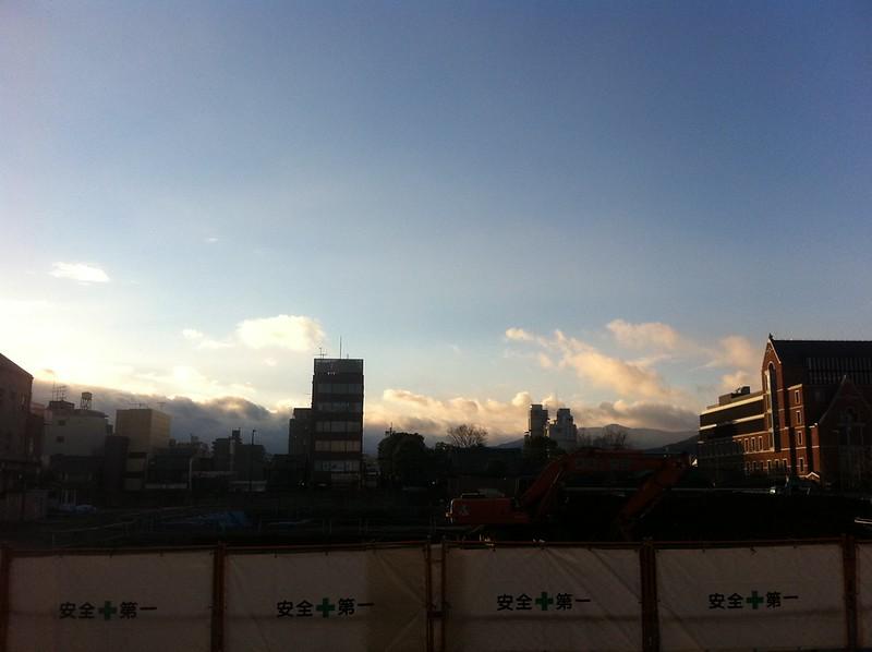 工事中の今出川キャンパス
