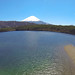 Lake Kawaguchi, Mount Fuji background.