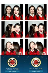 Red Jackets Rock Photobooth Strips