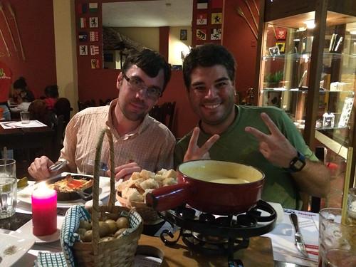 Baños: fondue savoyarde dans un restaurant suisse