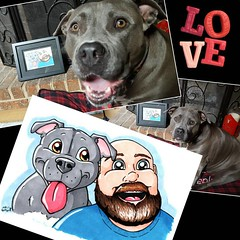 For Father's day, I got the print from @spiffypits framed nicely so that daddy can hang it up. I 💗 my daddy!  #bonnie_blue_bullie #spiffypits #fathersday #pitbulllove  #pitbullsofinstagram #dogsofinstagram #dontbullymybreed #endbsl #lovernotafi