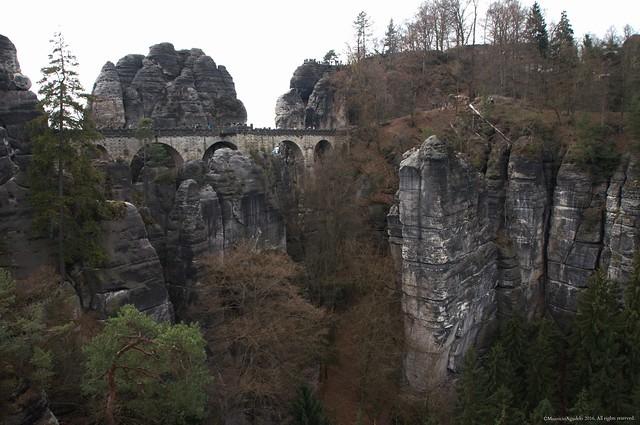 Pont des rochers, Bastei.