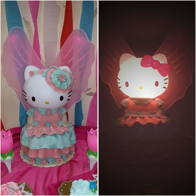 Illuminated Hello Kitty Fairy Cake with my Princess Gown Pull-Apart Cake by Leigh Lany
