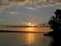 Cayuga Lake - Sunset from Myer's Park