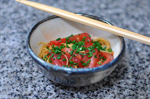 Tuna with Angel Hair Pasta
