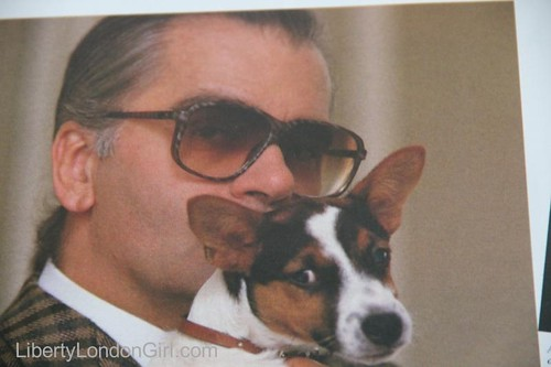 Karl Lagerfeld in W magazine 1987