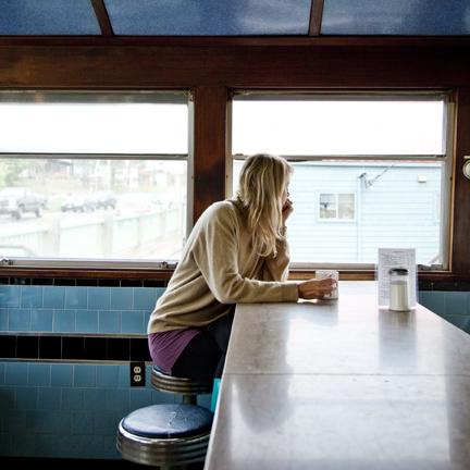 Cig Harvey, Elizabeth, A1 Diner, Gardiner, Maine, 2010
