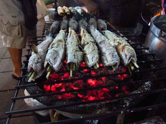 Salted and Grilled Whole Fish