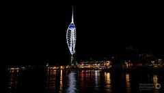 spinnaker tower night