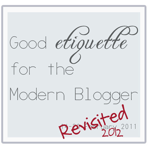 blog etiquette revisited
