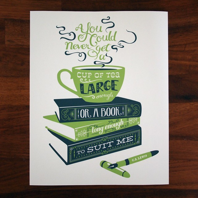 Tea & books print