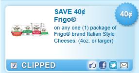 Frigo Italian Style Cheeses Coupon