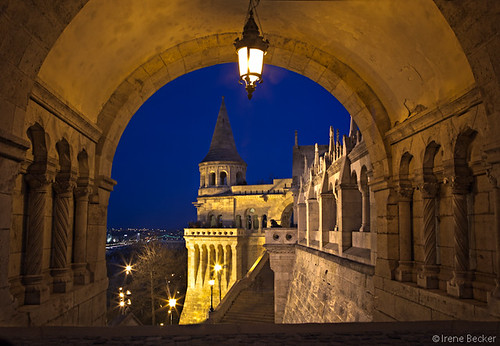 longexposure architecture night europe hungary budapest bluehour hu castlehill 2012 budacastle fishermansbastion halászbástya budaváripalota budaivárnegyed irenebecker irenebeckerorg