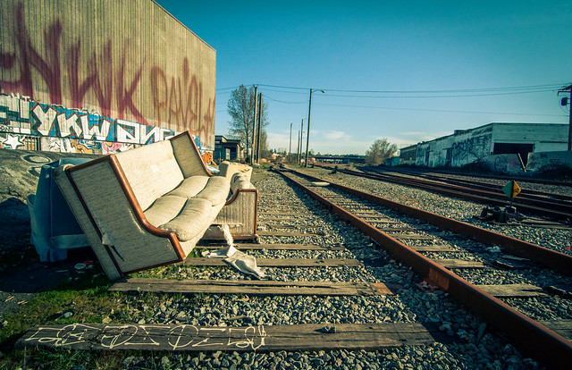 Sofa by the tracks