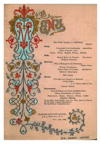 023-DINNER FOR HON. JOHN REILLY -CHARLES DUPPLER'S HOTEL,NEW YORK-1889-NYPL