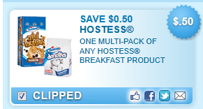 Hostess Multi-pack Breakfast Product Coupon