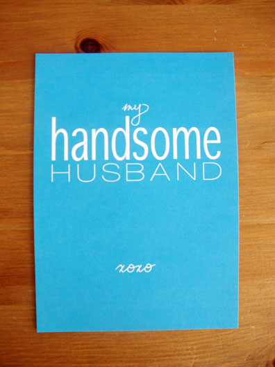 Handsome Husband Card