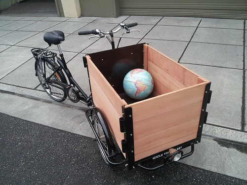 Icicle Tricycle Cedar Cargo Bike holds the World! by portlandpedalworks