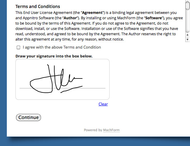 Electronic Signature on Your Forms! | HTML Form Builder Online ...