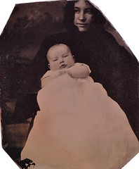 Hidden Mother Revealed--Clair Lillibridge and Adeline Young Lillibridge, Tintype, 1876