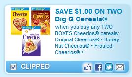 Cheerios Cereals Coupon