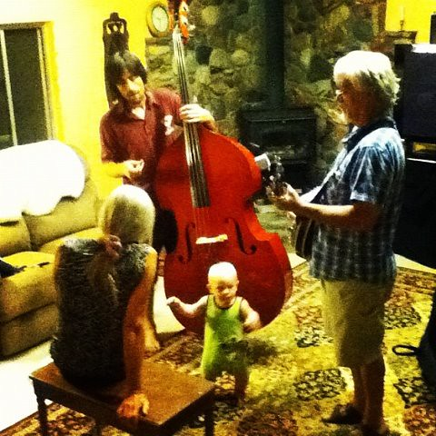 rehearsal in the living room