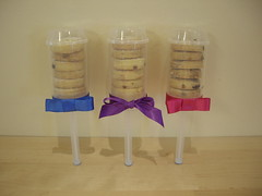 How about a choc-chip cookie stack for party favours?