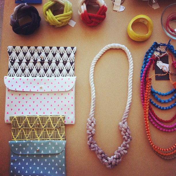 Our accessory table is looking so cute! Do you see some new clutch-ness? On Poketo.com right now!