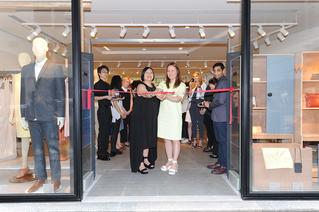 Ribbon Cutting Ceremony by COS Stores HK Responsible - Chi Cheng (left) & Brand Overall Responsible - Marie Honda (right)