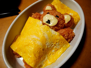 bear-shaped omelet